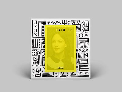 Jain - Zanaka album art cover, V2 cover design design album cover cover album zanaka jain