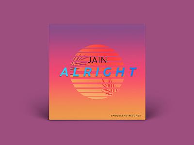 Jain - Alright single art cover V2 cover design design album cover cover album zanaka jain