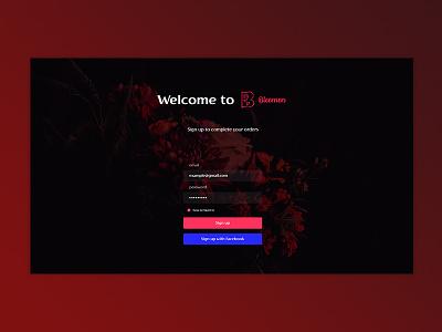Bleemen Sign Up UI Concept ui concept signin design