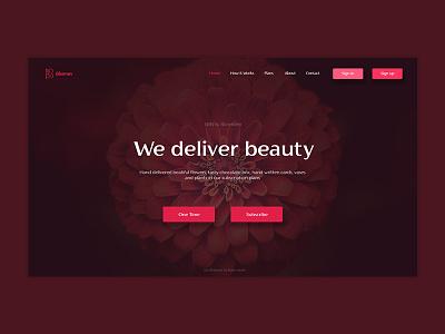 Bleemen Homepage UI Concept ui concept design