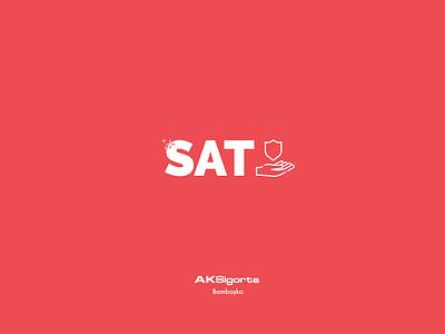 Aksigorta SAT White Logo Concept logo design branding concept logo