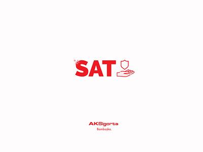 Aksigorta SAT Red Logo Concept logo logo design concept design