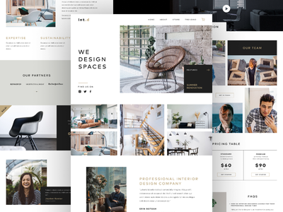 Int. d Landing Page furniture store interior design whitespace web design landing page design landing page ecommerce design minimal typography design ui  ux design userinterfacedesign