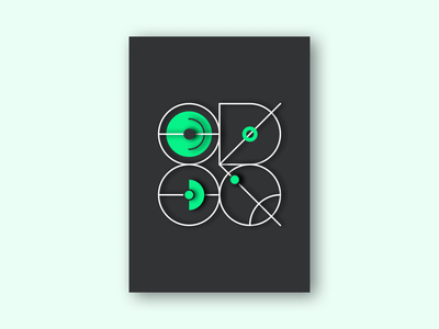Poster 1 learning experimental exploration ui poster a day green minimalism striking minimal 3d effect 3d design poster design poster art creative block experiment