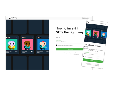 Cryptonary: Download free guide 🚀 form design email download cryptopunk nft cryptocurrency guide education blockchain uidesign component free download email guide etherium card design modern design userinterfacedesign ui