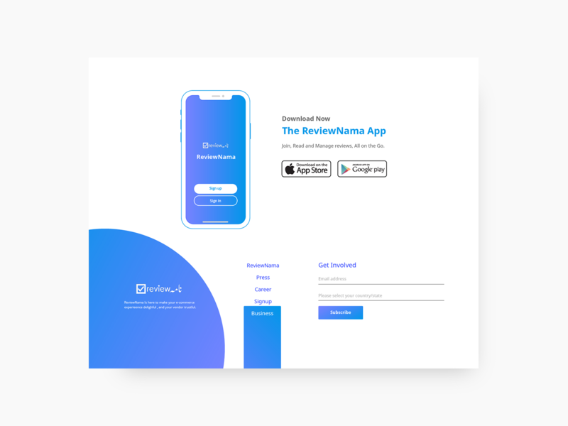 App download and footer design  by Noman Ejaz on Dribbble