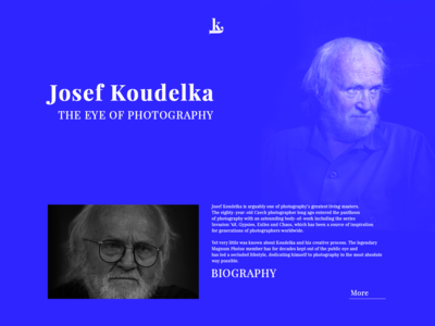 Josef Koudelka Biography Website.
