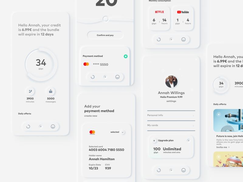 Skeuomorph App User Interface.