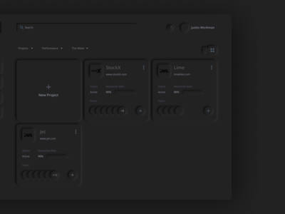 Skeuomorph Dashboard - Dark.