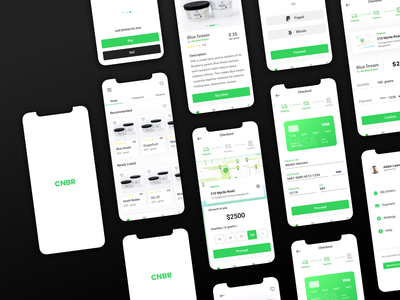 Canaber - a cannabis delivery app. ios clean weed uiuxdesign ux ui service design minimal ecommerce app delivery cannabis app design app