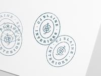 CJ Blaine logo stamp