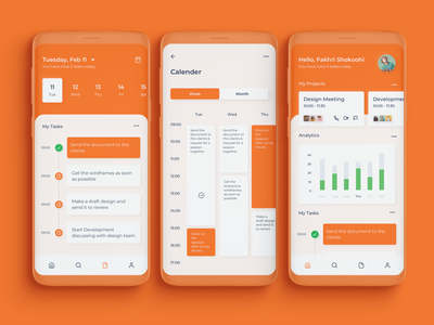 Task Management App task management app calender scheduling analytics mobile application app task management task manager ux typography design minimal clean ui