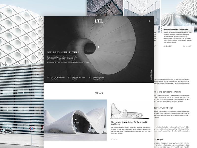 LTL blogs events grid design architecture layout landing page
