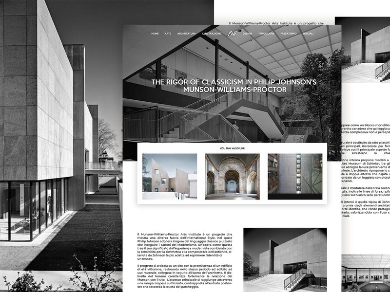 Artwort grid design ui minimal design clean blogs layout landing page