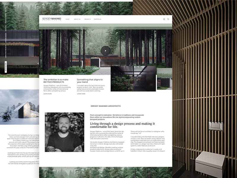 SM Architecture instagram website ux behance typography design ui minimal grid design clean blogs layout landing page