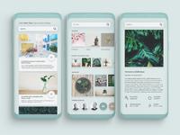 Mockup for plant care app