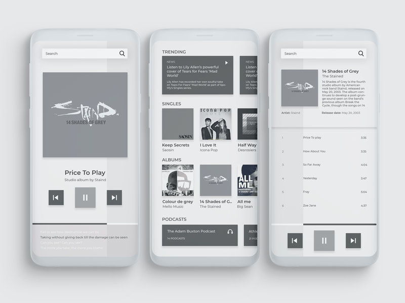 Music Player App archives playlist stream ux ui app player exploration news podcasts albums music