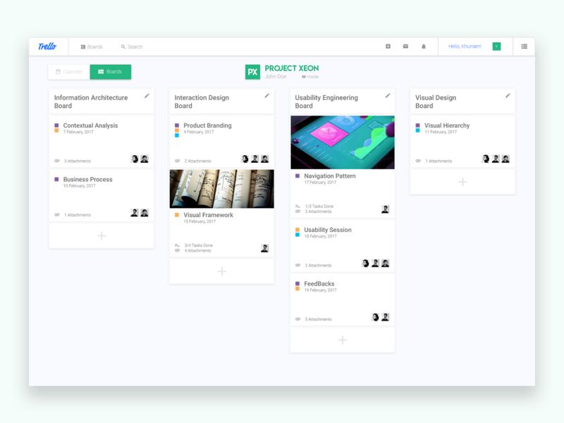 Trello Project Management View view compact descriptive smart simple minimalism redesign management project trello