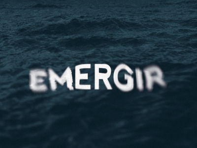 Emergir logo graphic design vector type identity sea design badge logo photography colors branding brand