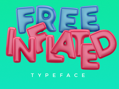 Free Baloon Typeface photoshop cinema4d inflated baloon download free typography type design