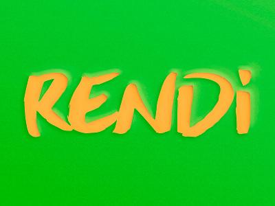 Rendi Cut graphic illustration rendi craft brand logo work papercraft paper