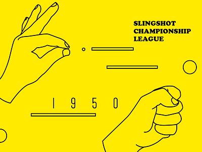 Slingshot sports illustration banner vector slingshot