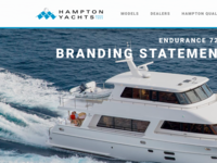 Hampton Yachts Website