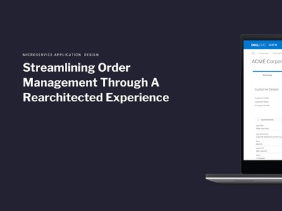 Streamlining Order Management Through a Rearchitected Experience order fulfilment order management microservice service design architecture experience design