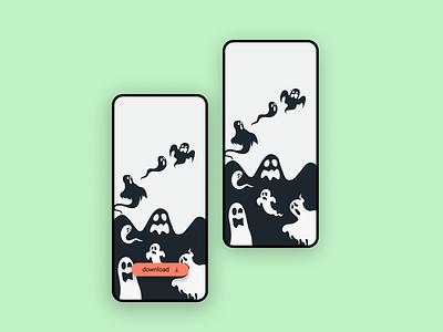 WP Halloween Ghost vector illustration halloween design design ui mobile ui  ux ui uidesign