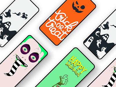 WP Halloween illustration halloween uidesign ui  ux ui