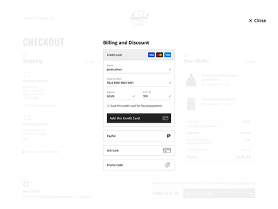 Daily UI :: 002 - Credit Card Checkout credit card checkout desktop dailyui