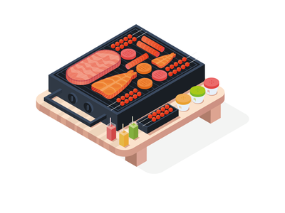 Barbecue buffet illustration