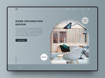 Home decoration design ui