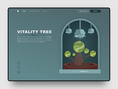 Vitality tree ui sketch