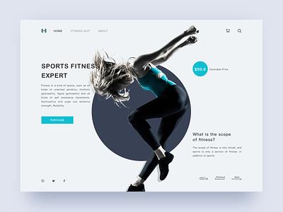 Sports fitness expert sketch ui