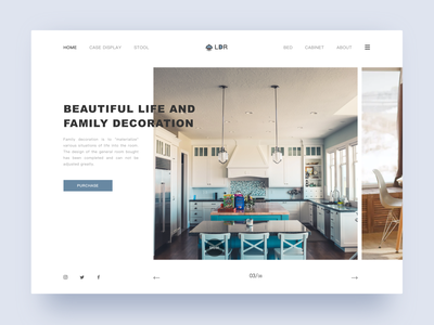 Beautiful life and family decoration sketch ui
