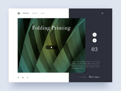 Folding Printing sketch ui