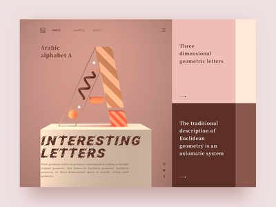 Interesting letters sketch ui