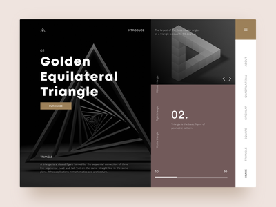 GoldenEquilateralTriangle sketch ui