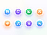 Four types of icon display
