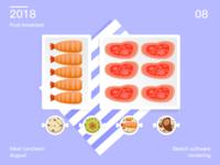 Diet in August 5
