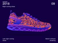 Night running shoes