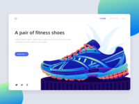 A pair of fitness shoes