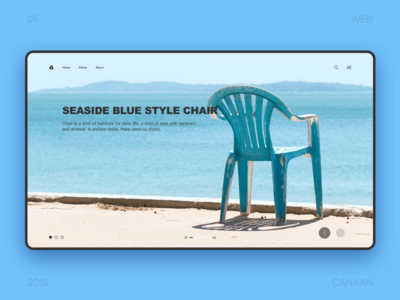Seaside blue style chair