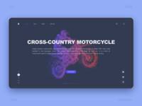 Cross-country motorcycle