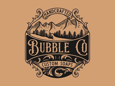 Mountain Badge classic mountain badge handdrawn vintage illustration