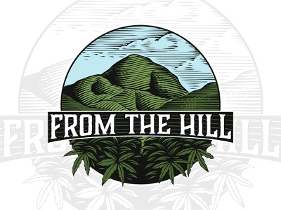 From The Hill vintagelogo logo handdrawn vintage illustration