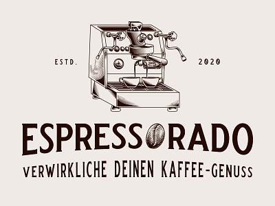 espressorado coffee logo vintagelogo handdrawn vector classic vintage illustration