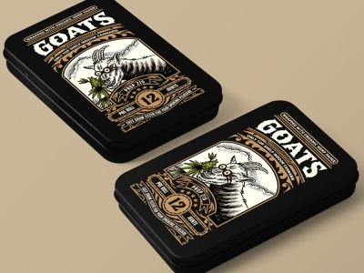 Goats Packaging packaging cannabis packaging illustration handdrawn classic vintage