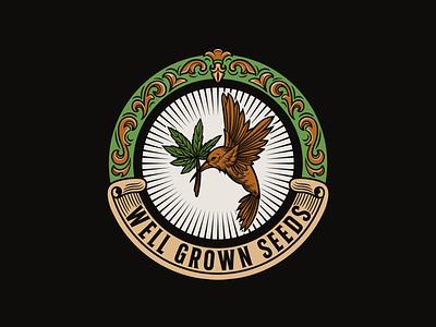 Well Grown Seeds vintagelogo logo illustration handdrawn classic vintage
